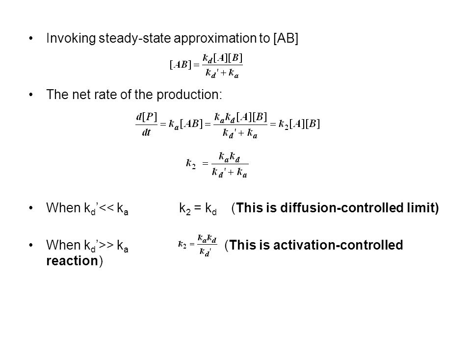 Invoking steady-state approximation to [AB]